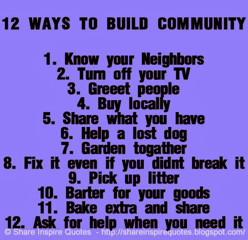 12 ways to build community share inspire quotes