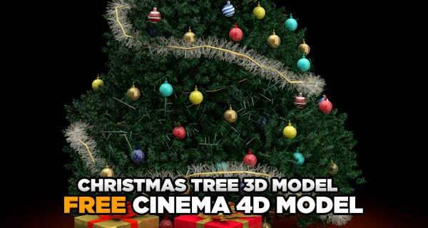 Free Christmas Tree Model for Cinema 4D