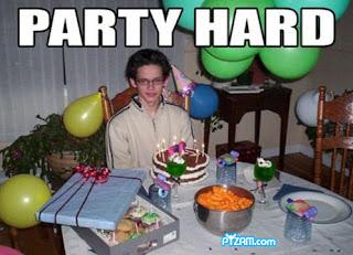 party hard sad birthday fail