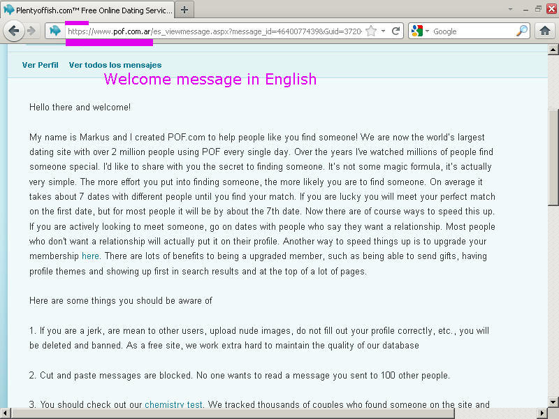 Dating site welcome message-in-Karak
