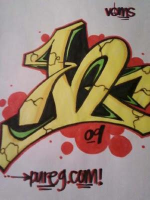 Full Graffiti Alphabet letter H