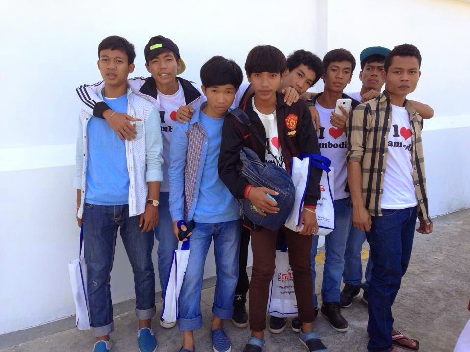 Young cambodian boys