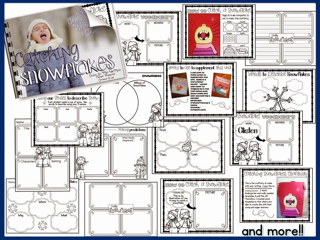 http://www.teacherspayteachers.com/Product/Catching-Snowflakes-Literacy-Resources-and-Craftivity-Winter-is-For-Snow-1552069