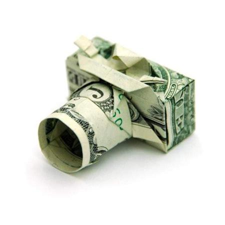 Dollar Bill Origami, Origami Art, Origami Camera