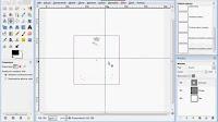 Centrowanie warstwy na obrazie bazowym. Punkt centrujący - zrzut ekranu