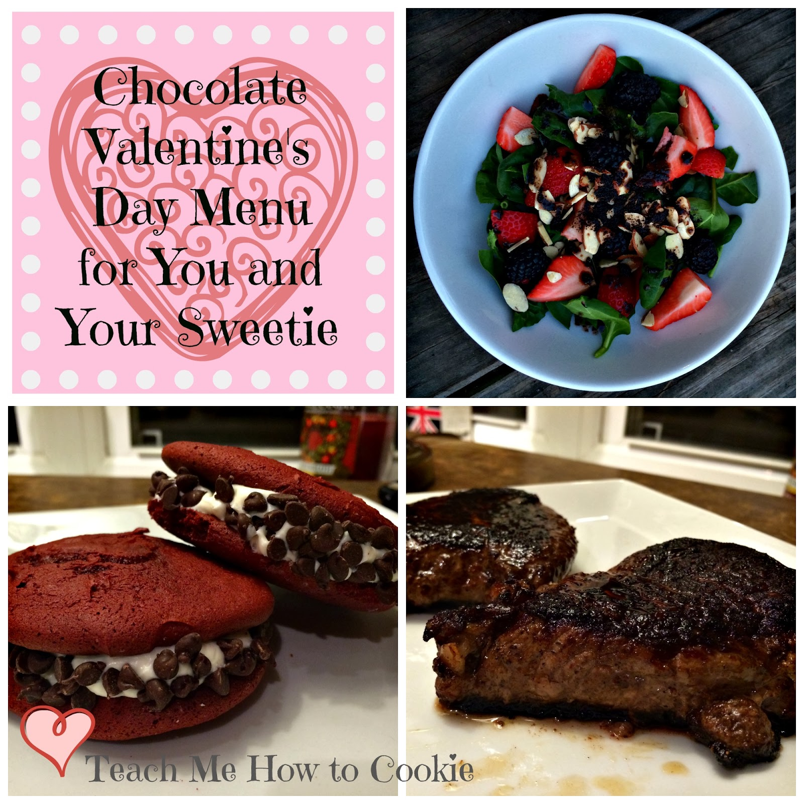 Valentine's Dinner Menu for You and Your Sweetie Chocolate