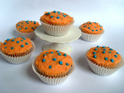 iron brew flavour cupcakes filled with scottish tablet