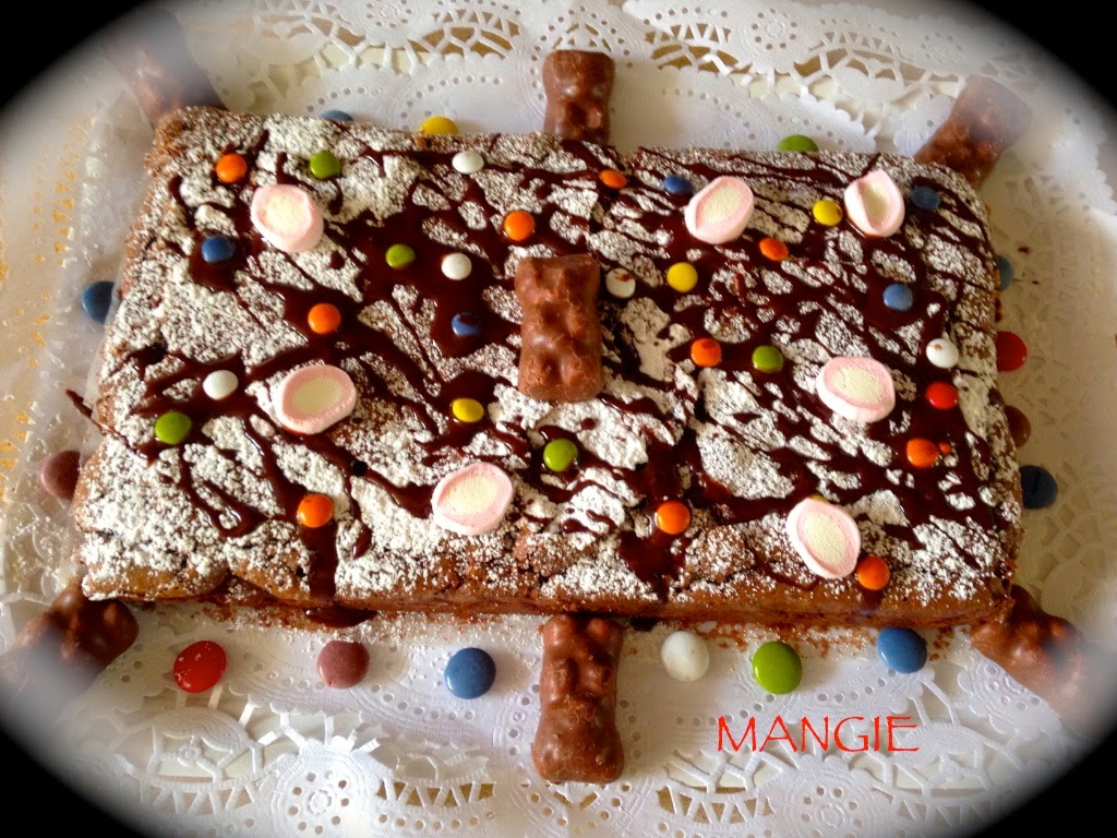 Brownie decorado