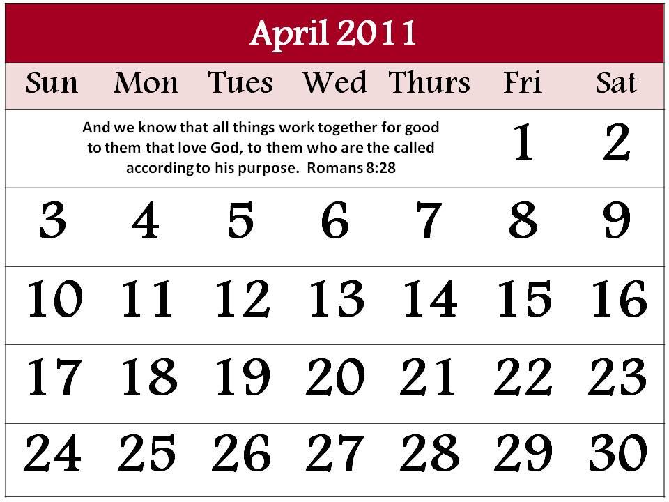 calendar april 2011 template. Free Calendar 2011 April