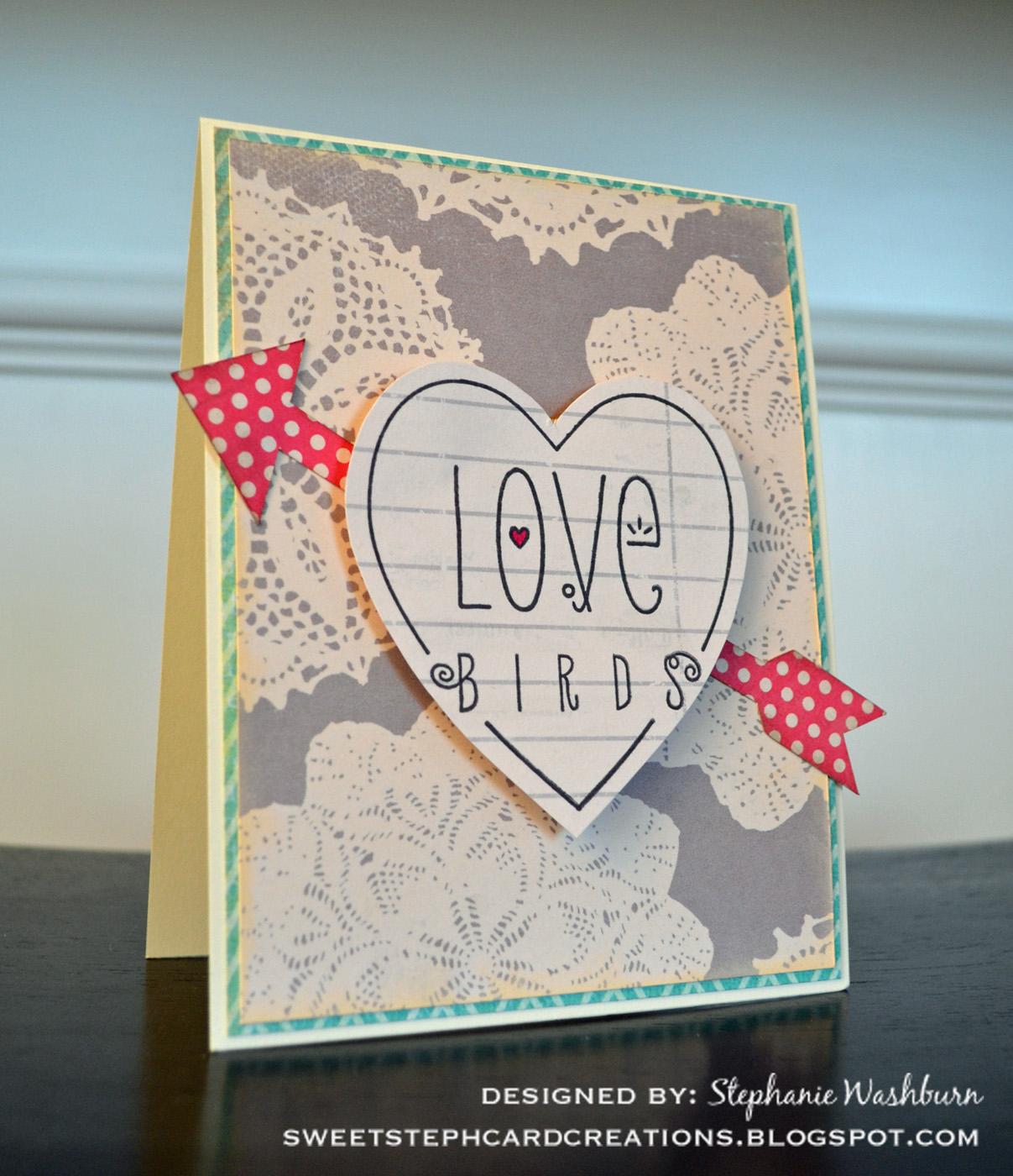 Sweetsteph Card Creations Love Birds Card