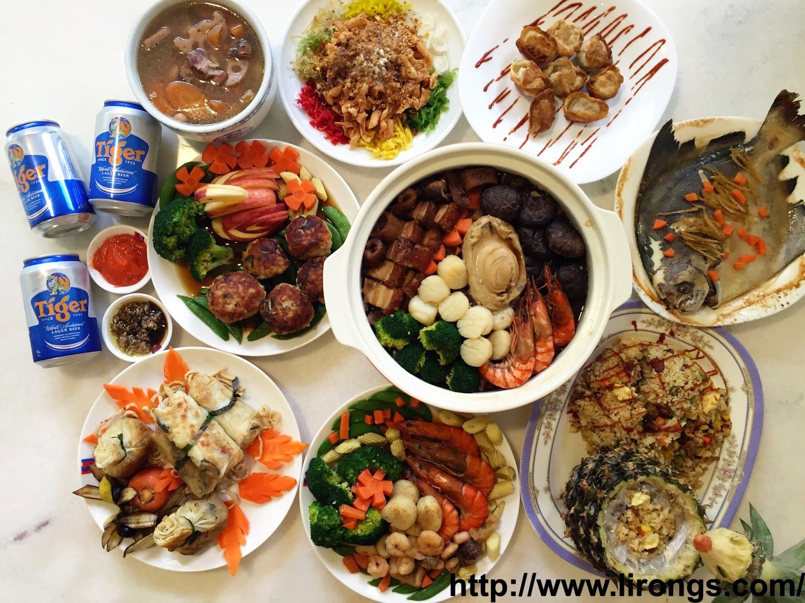 happy lunar new year reunion dinner15 recipes included - Chinese New Year Dinner