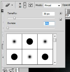 Photoshop: herramienta borrador