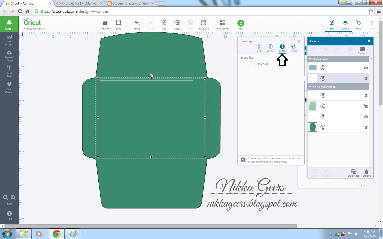 Create Your Vision Cricut Explore Tutorial How To Size Envelopes