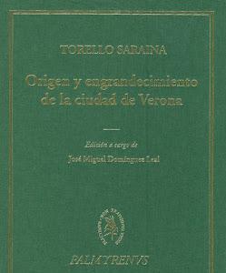 """TORELLO SARAINA, """"Origen y engrandecimiento de la ciudad de Verona""""."""