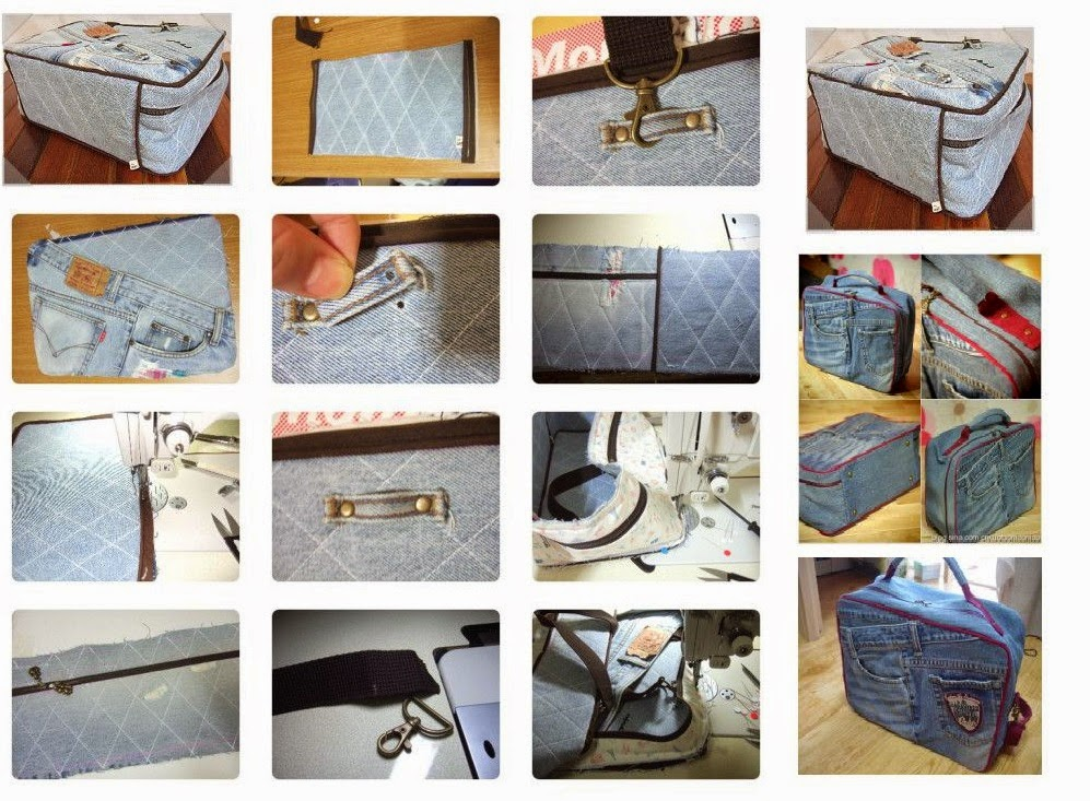 cara membuat tas dari celana jeans bekas