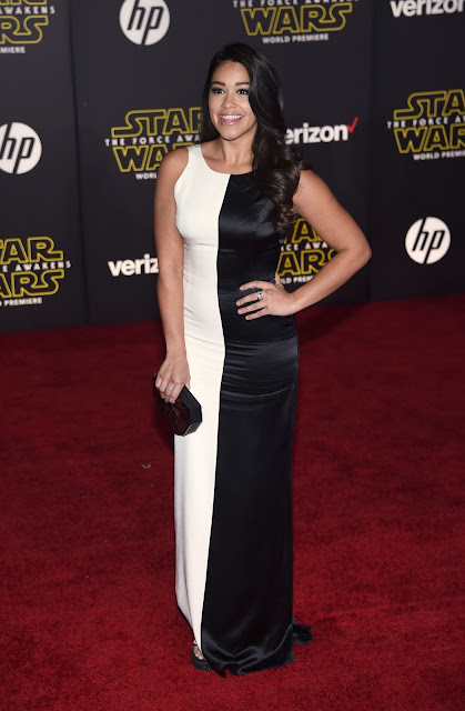 "Actress, @ Gina Rodriguez - premiere of ""Star Wars: The Force Awakens"" in Hollywood"