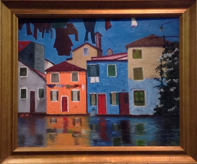 """My Burano"" original oil painting by Nicole J. Butler"
