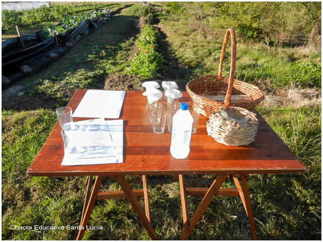 Los materiales preparados - Chacra Educativa Santa Lucía