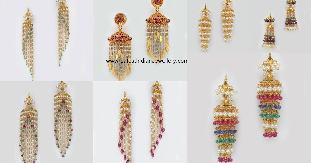 light weight pearl beads jhumkas