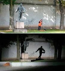 Monument en Lithianie: différent le jour et la nuit!