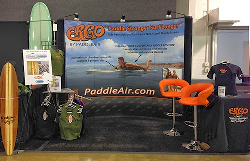PaddleAir Booth at 2013 Boardroom in Costa Mesa, CA