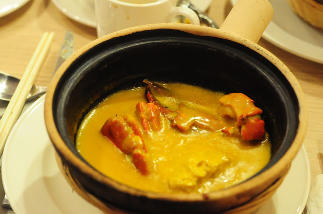slow-braised pumpkin crab claypot review