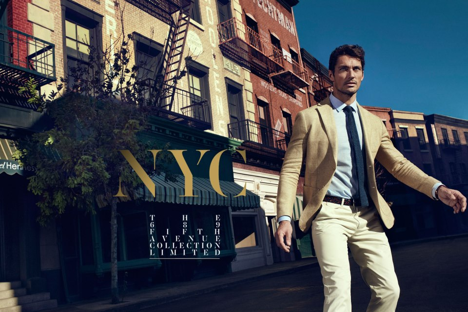 David Gandy posa en lookbook Massimo Dutti