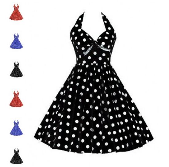 Polka Dot Vintage 50s Dress at ReoRia.com