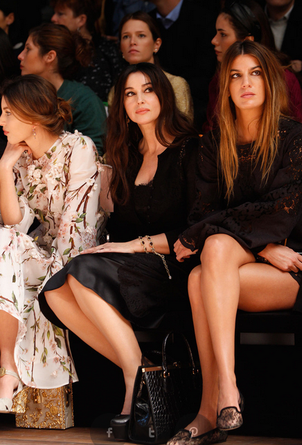 Monica-Belucci-MFW-2014-front-row