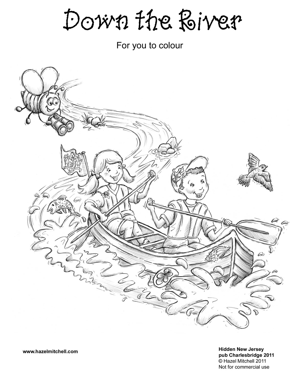 River Free Colouring Pages