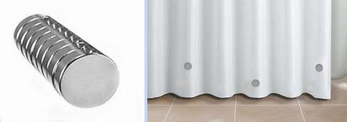 How To Stop Your Shower Curtain From Blowing In Magnets And Weights