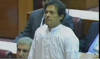Imran Khan taking oath in national assembly
