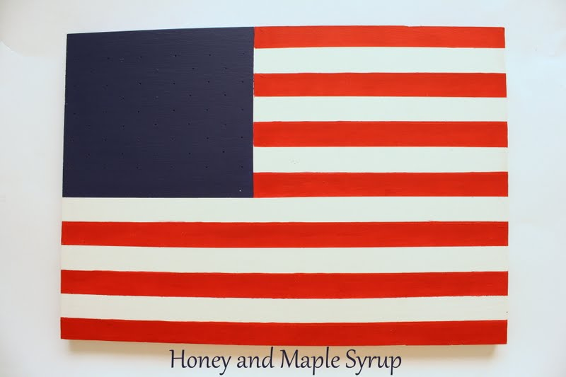 Honey And Maple Syrup Painted American Flag
