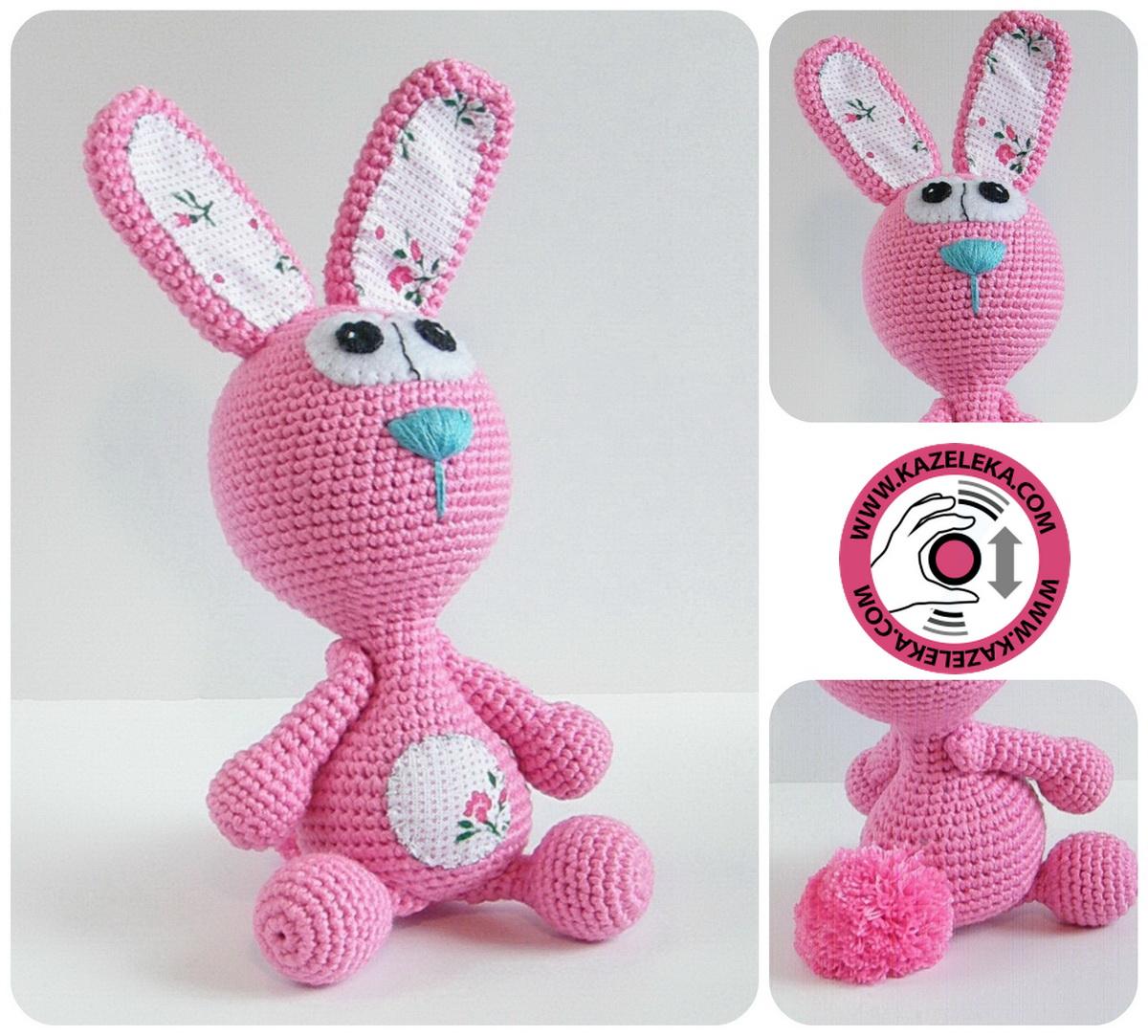 crochet rabbit - вязаная зайка