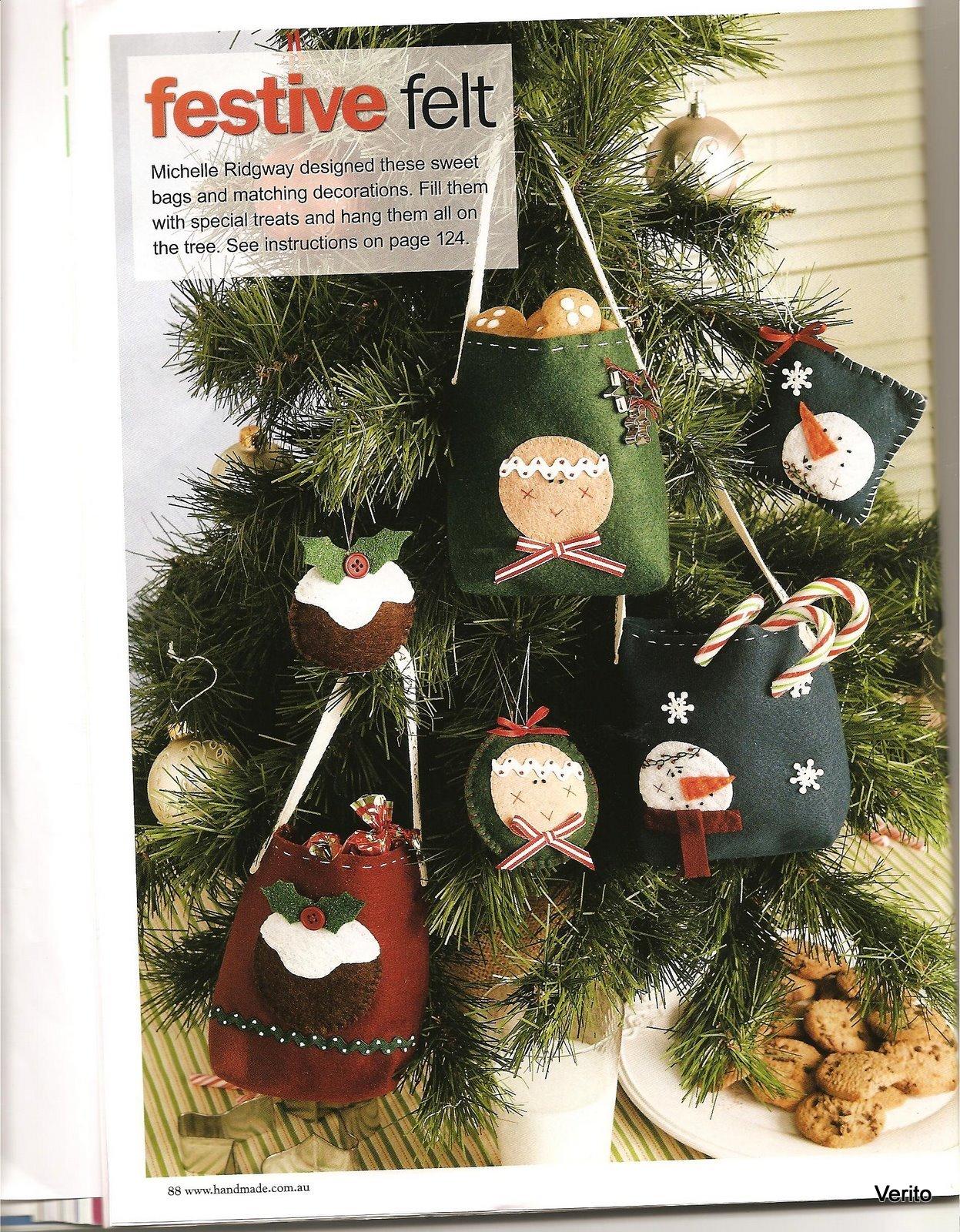 Como hacer manualidades para navidad ornamentos fieltro - Ornamentos de navidad ...