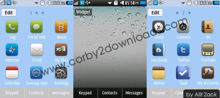Download Tema Samsung Corby 2 Iphone pada link di bawah ini :
