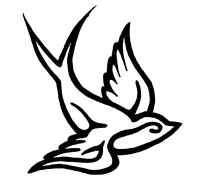 Sparrow bird tattoos designs