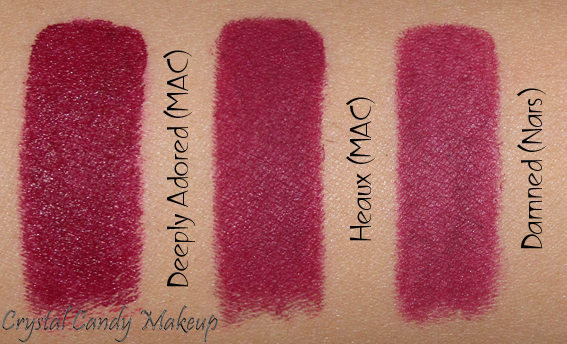 Pour les M.A.C addicts - Page 3 Heaux-Lipstick-Retro-Matte-Rihanna-MAC-Review-Swatches-Nars-Damned-Deeply-Adored