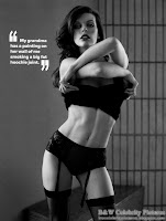 B&W pictures of Milla Jovovich, a Photoshoot For Maxim Australia March 2012 - pic 3