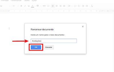 Renomeando o arquivo no Google Drive