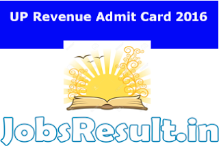 UP Revenue Admit Card 2016