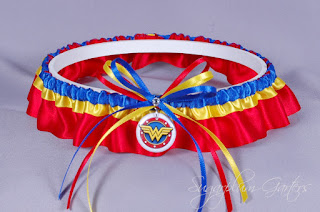 wonder woman wedding garter