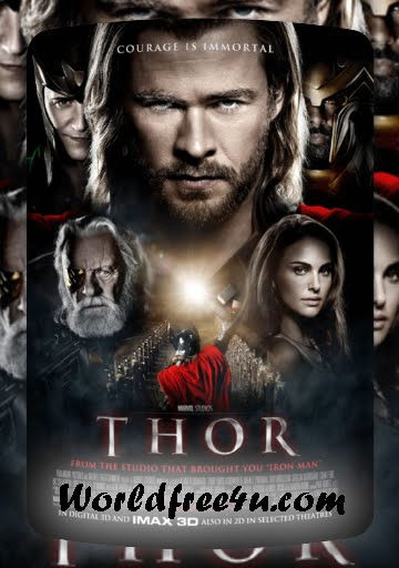 Poster Of Thor (2011) In Hindi English Dual Audio 300MB Compressed Small Size Pc Movie Free Download Only At worldfree4u.com