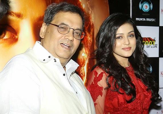 Bollywood actress Misthi and Director Subhash Ghai