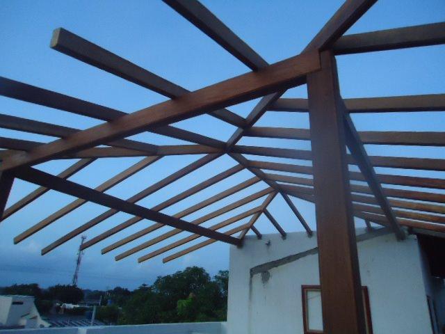 Techos kioskos estructura en madera para kiosko - Estructuras de madera para techos ...