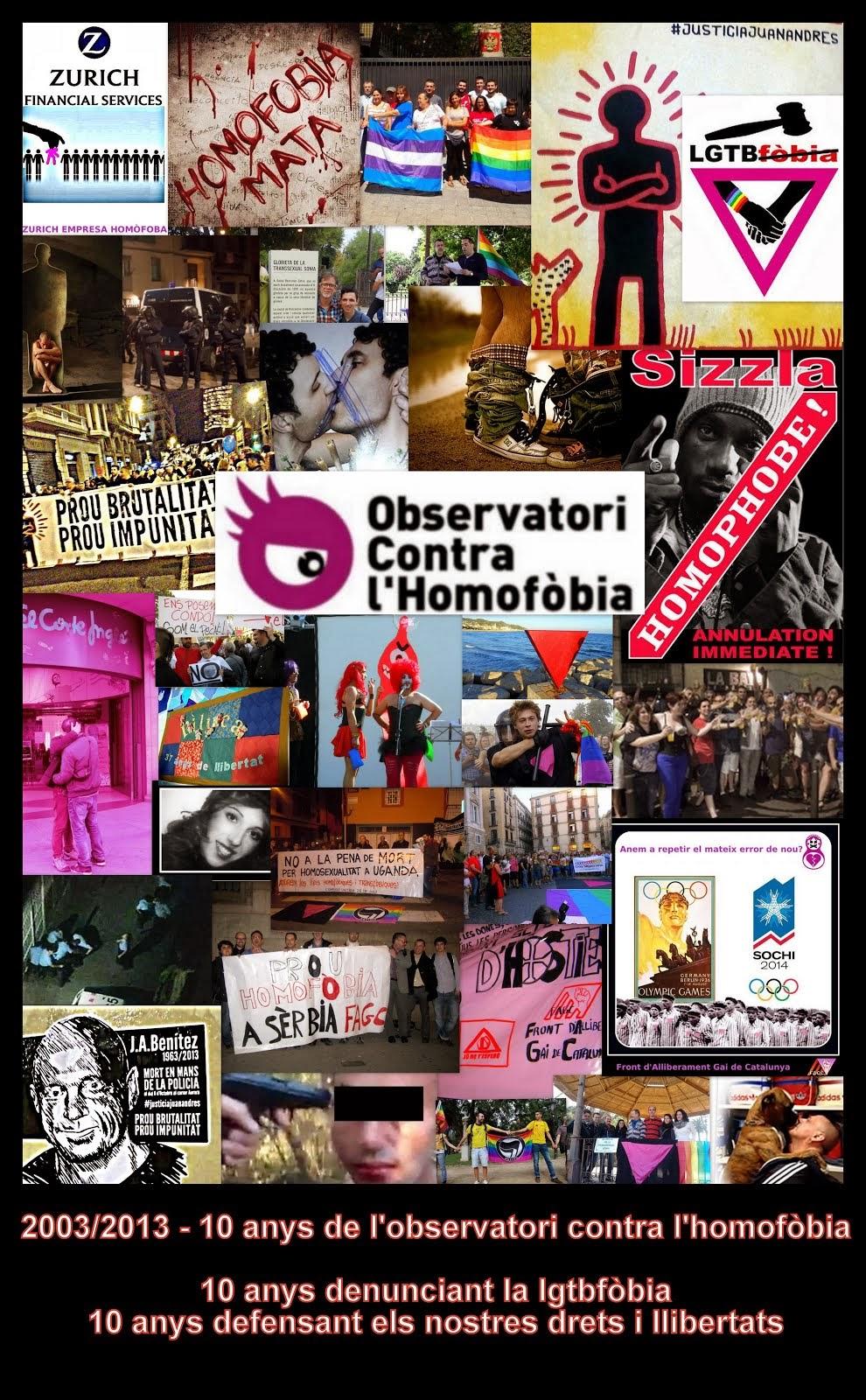 10 anys Observatori Contra l'Homofòbia