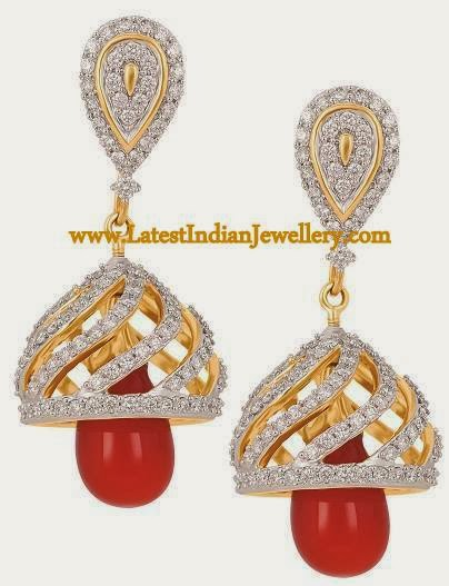 detachable diamond jhumkis