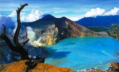 Gambar Pemandangan Alam Indonesia Gunung Ijen Banyuwangi-Kawah Gunung Ijen
