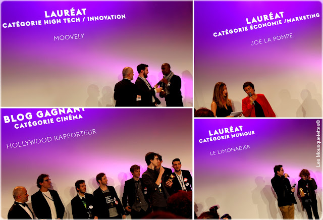 Golden Blog Awards 2015 Paris - Hôtel de Ville - Moovely, Joe la Pompe, Hollywood Rapporteur, Le Limonadier - Les Mousquetettes©