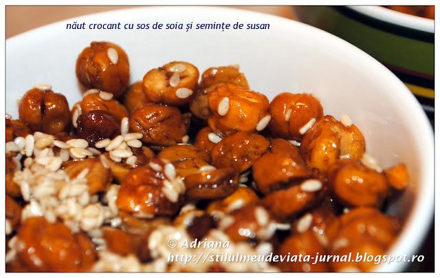 naut crocant cu sos de soia si seminte de susan